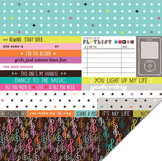 KI Memories - Playlist Collection - 12 x 12 Double Sided Paper - His and Hers at Scrapbook.com