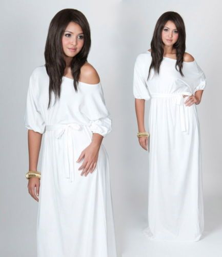 White Maternity Plus Size Maxi Dresses
