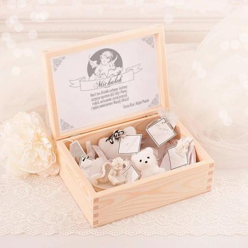Zestaw Prezent Na Narodziny Chrzest Sw Aniol Gifts Gift Wrapping Decorative Boxes
