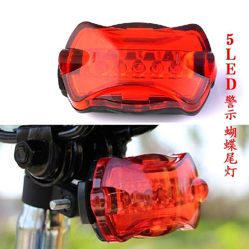 LED della luce della bici 5 LED Posteriore di Coda daytime running light Rosso Della Bicicletta Della Bici Posteriore Luce Posteriore della Coda luce di parcheggio SM011