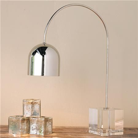 Great Regina Andrew Crystal Base Dome Task Table Lamp
