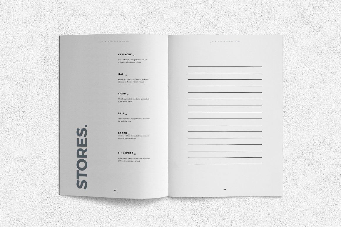 Lookbook Business website, Brochure template, Vector