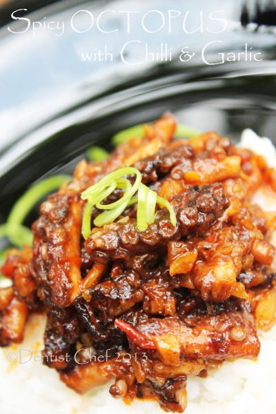 Octopus recipe spicy octopus with chilli and garlic recipe korean dishes forumfinder Image collections