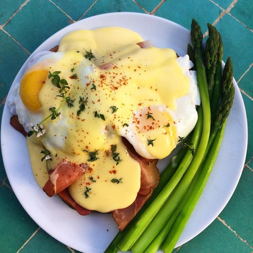 The Hedonist's Breakfast, and Hollandaise Sauce for One (or 10 #hollandaisesauce