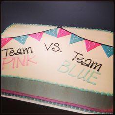 Gender Reveal Sheet Cake Google Search Gender Reveal Cake