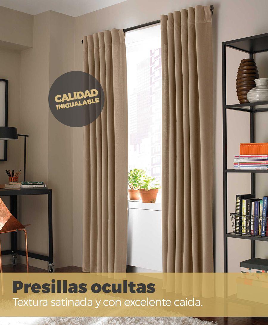Juego De Cortinas Blackout Textil Lavable Presillas Ocultas 4 290 00 Cortinas Habitaciones Pequeñas Decoraciones De Casa