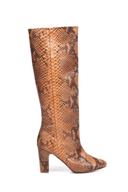 Fall's Finest Boots - ELLE  Zara snakeskin