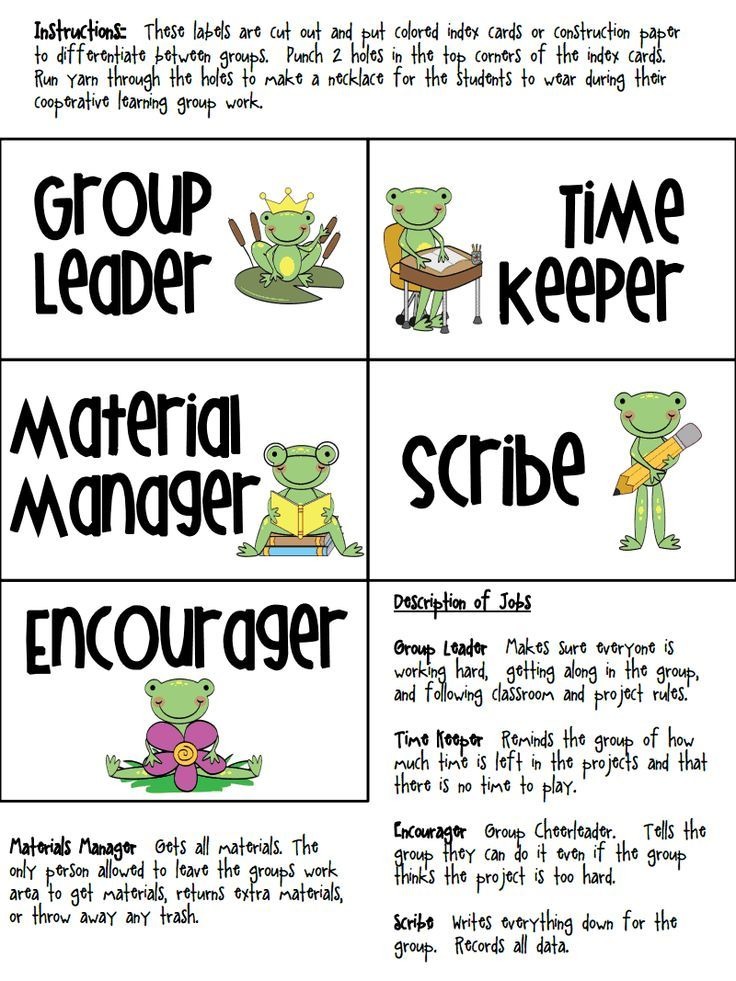 Collaborative Classroom Rules ~ Cooperative learning group labels this activity printable