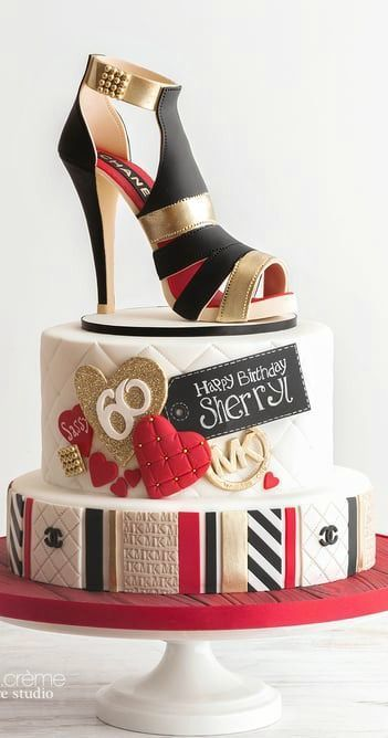 Chanel Sugar Shoe And A Designer Cake To Match Handbag Cakes