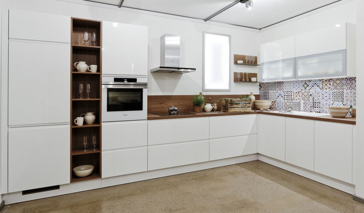 l kuechen beste eck küchenblock Küche weiß holz, Moderne