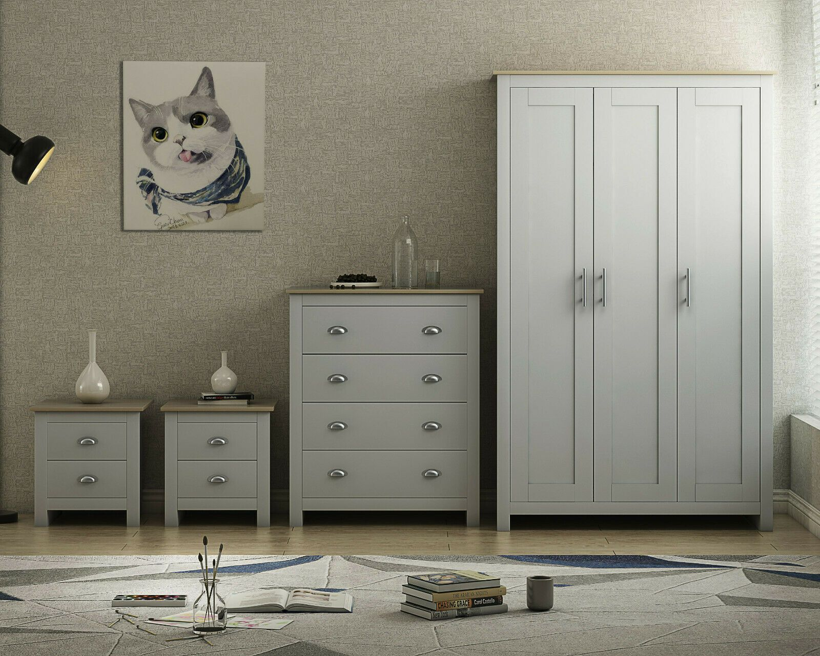 Grey Oak Country Supreme Bedroom Furniture Range Wardrobes Chests Bedside In 2020 Furniture Industrial Bedroom Furniture Sets Bedroom Furniture