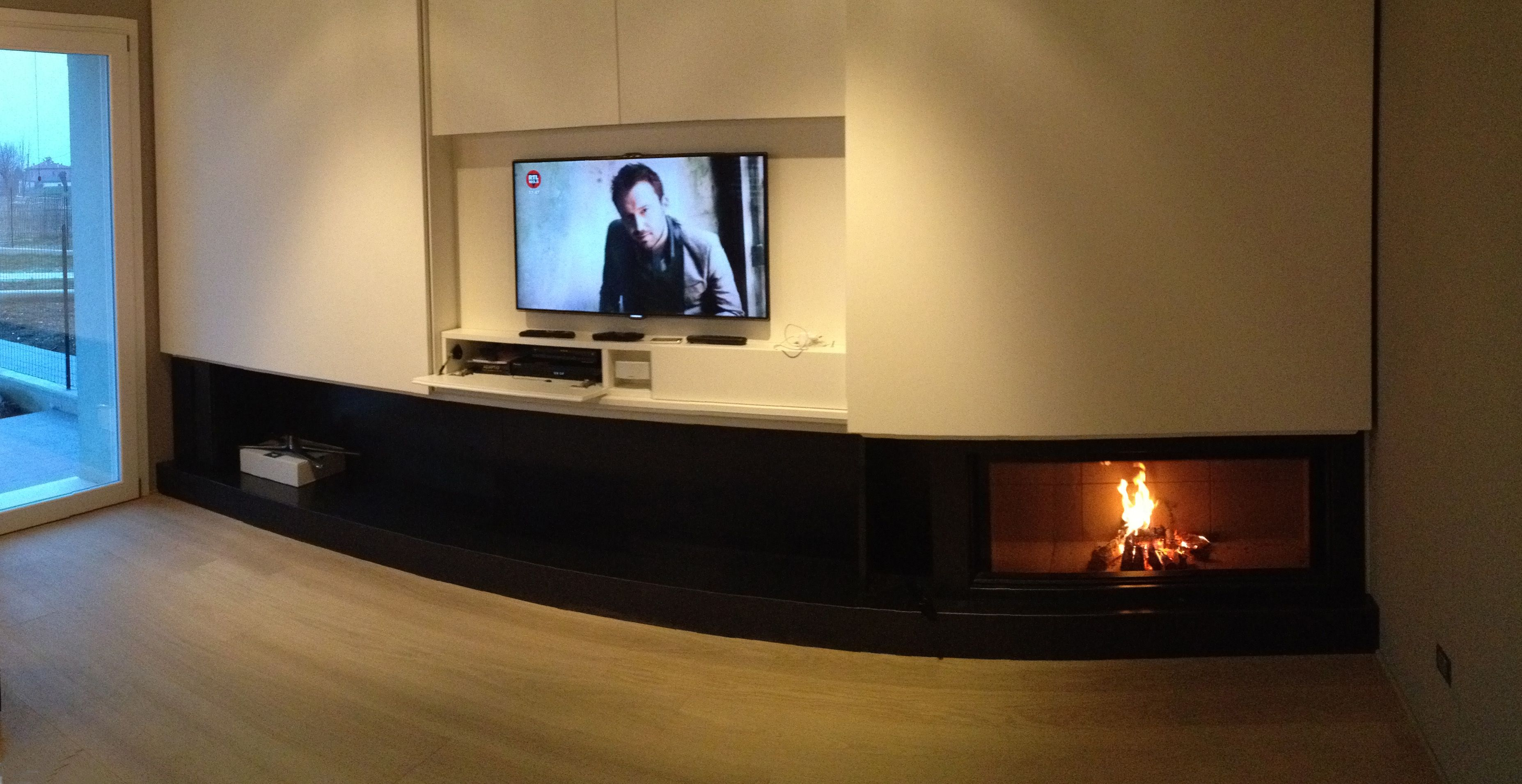 caminetto mdesign luna 1300 fireplace in the living room