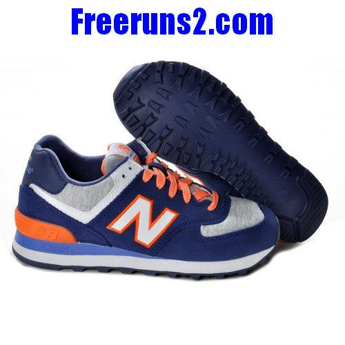 Cheap Discount New Balance NB retro lovers For Women shoes deepBlue Grey  Orange Fashion Shoes Store