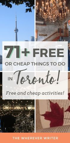 Free things to do in Toronto that are FUN! Click here to get ideas for your next Toronto trip #toronto #travel