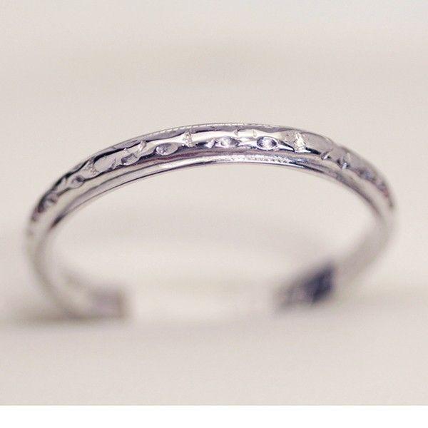 Antique Victorian Platinum eternity ring, with beautiful engraving.  Circa 1889