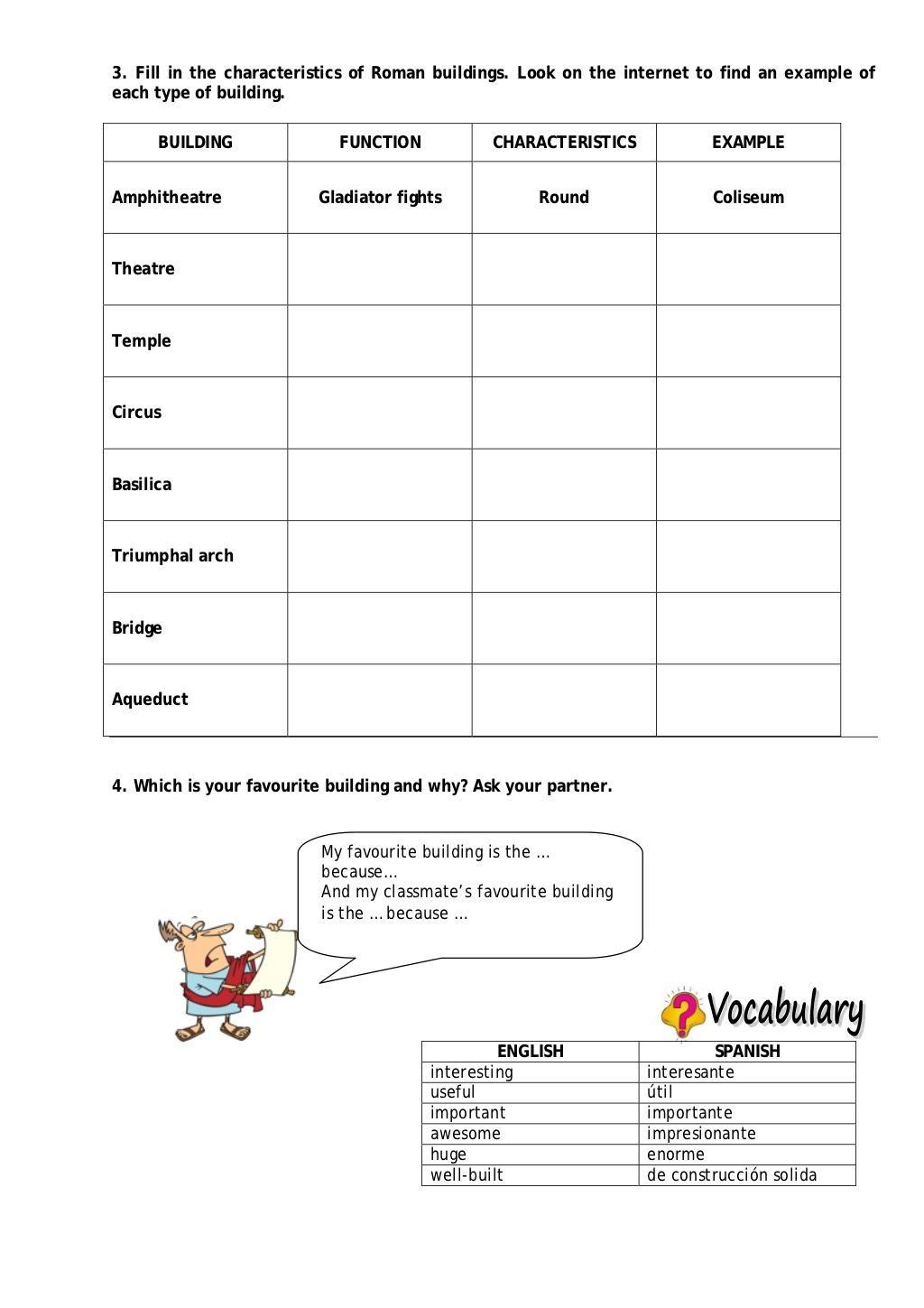 Characteristics Of Civilization Worksheet 3 Fill In The