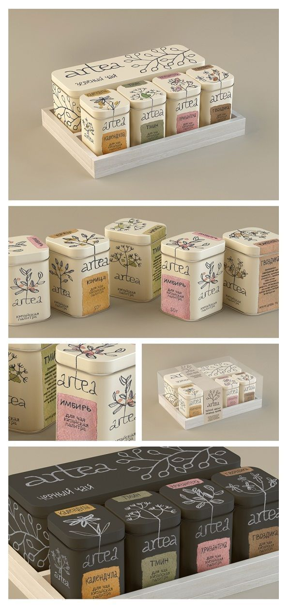 Packaging para té: tipografía y color #teapackaging