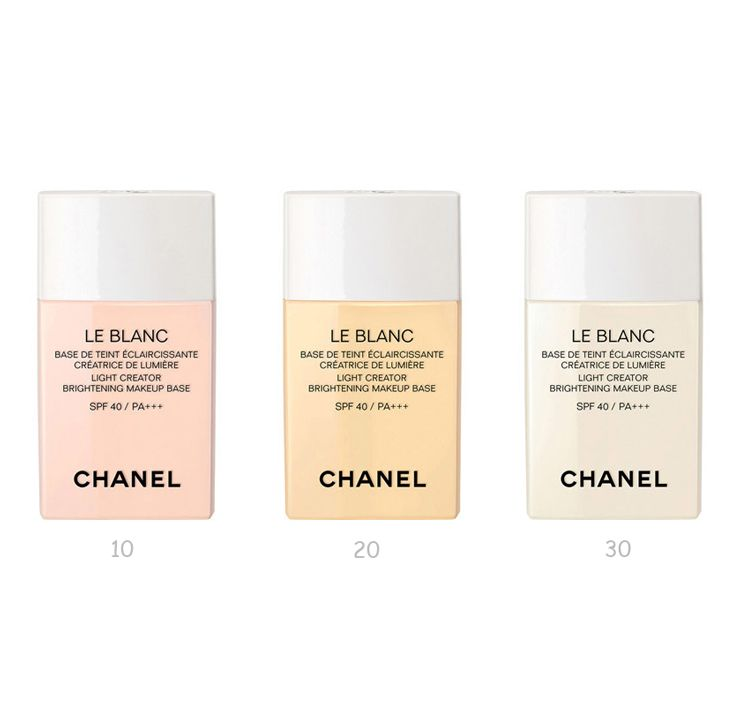 Chanel Le Blanc Light Creator Brightening Makeup Base Spf40 Pa Makeup Base Makeup Collection Makeup
