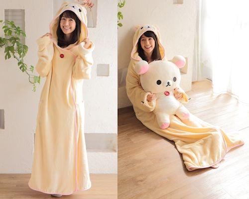 Korilakkuma Wearable Blanket Decke Zum Anziehen Trends Kleidung