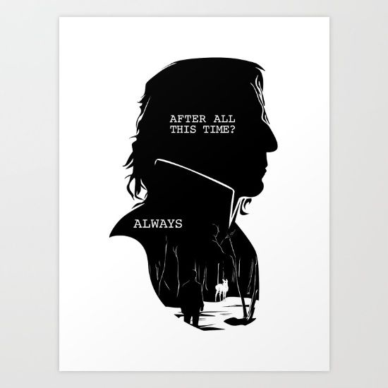 2cf2658ef Snape - Quote Silhouette Art Print by GTRichardson -  19.00