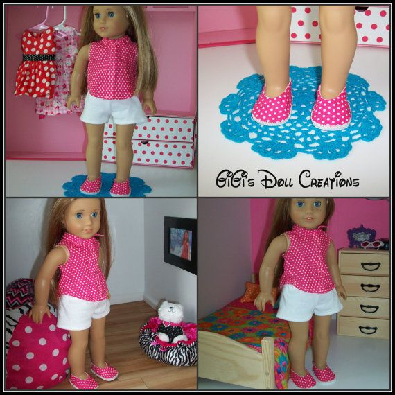 Sleeveless top shorts and shoes fits by GiGisDollCreations on Etsy, $20.00