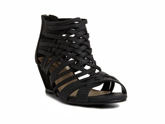 Hearts of Darkness by Cri de Coeur Cross Strappy Mini Wedges by