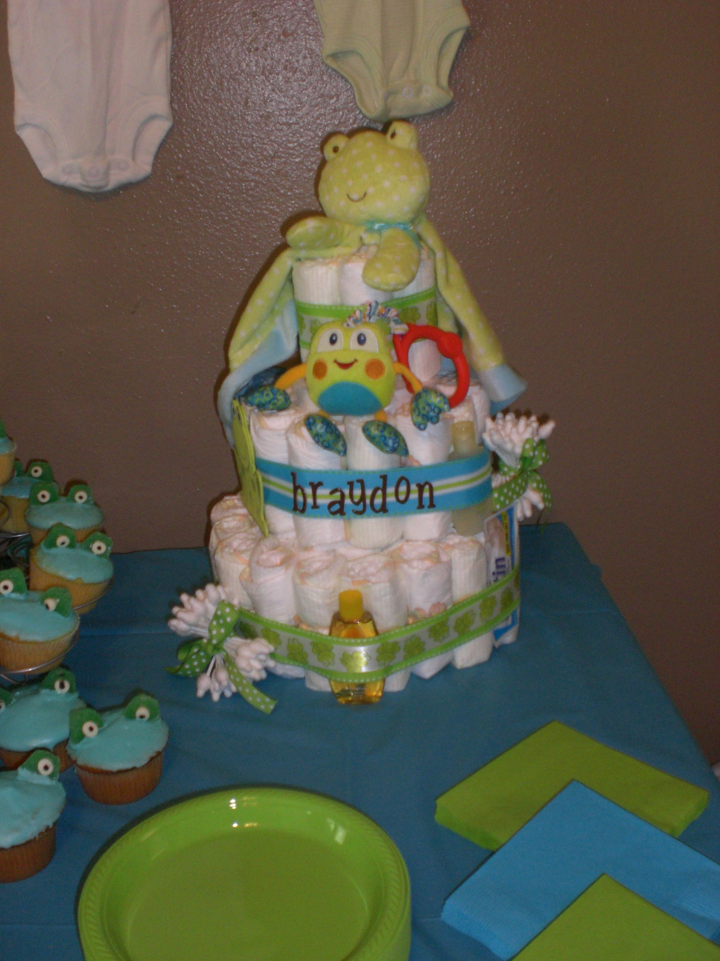 Diaper Cake from a baby shower