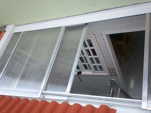 Cobertura Abre E Fecha De Policarbonato Casas E Apt