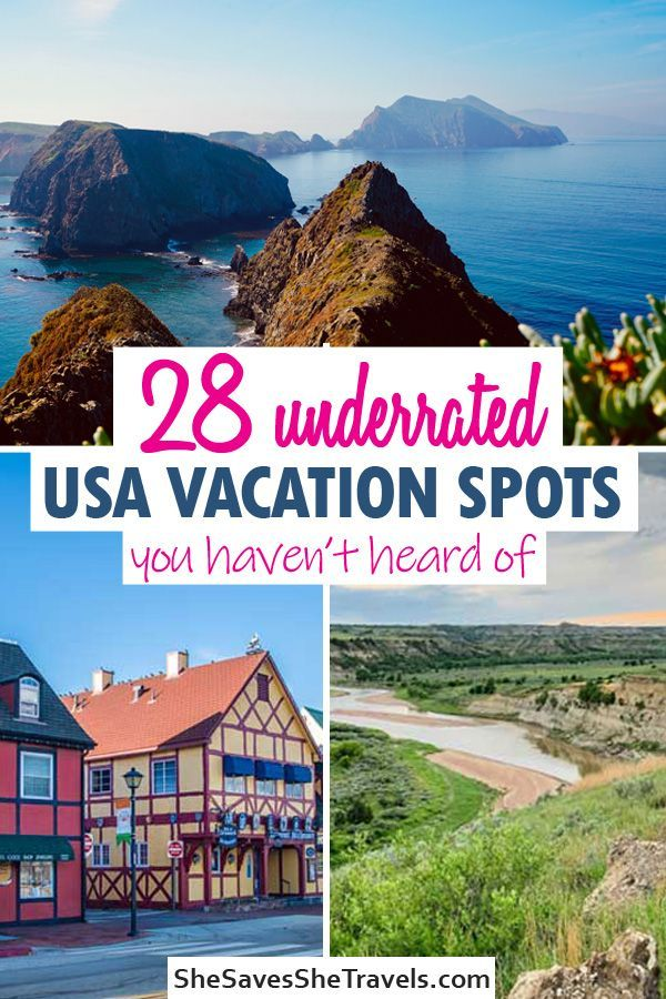 Best USA vacation ideas - places you've never heard of. Includes perfect road trip spots and destinations that aren't crowded. Must add these 28 spots to your USA bucket list! #usatravel #vacation