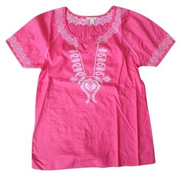 Embroidery Top Pink