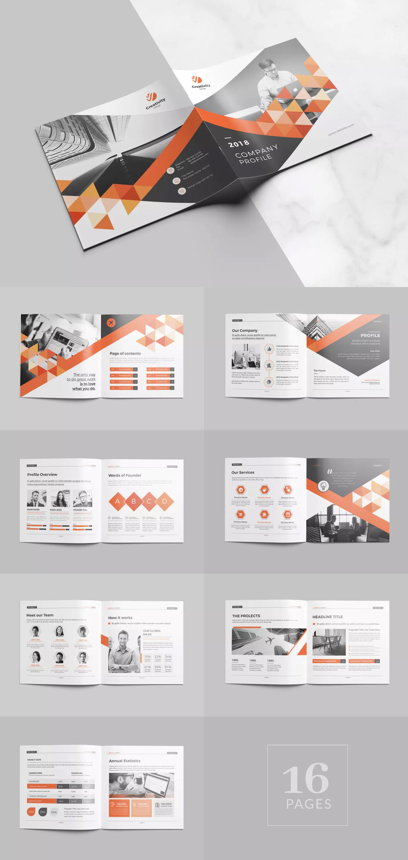 Square Company Profile Brochure Template Indesign Indd 16