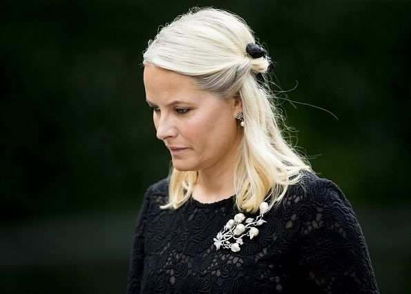 Prince Haakon and Princess Mette-Marit attend a Memorial Service