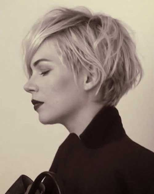 Michelle Williams Long Blonde Pixie Haircuts Lovelylocks
