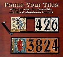 House Number Address Ceramic Tile Anodized Aluminum Frame Picture Tiles Ceramic House Numbers Decorative Tile