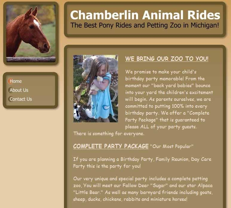 chamberlinanimalrides01.jpg Zoo animals, Pony rides