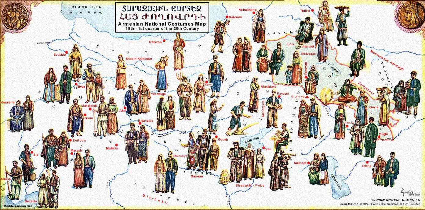 Map Of Traditional Armenian Dres Taraz Dresse Armenia Paraphrase Definition Francais Francai