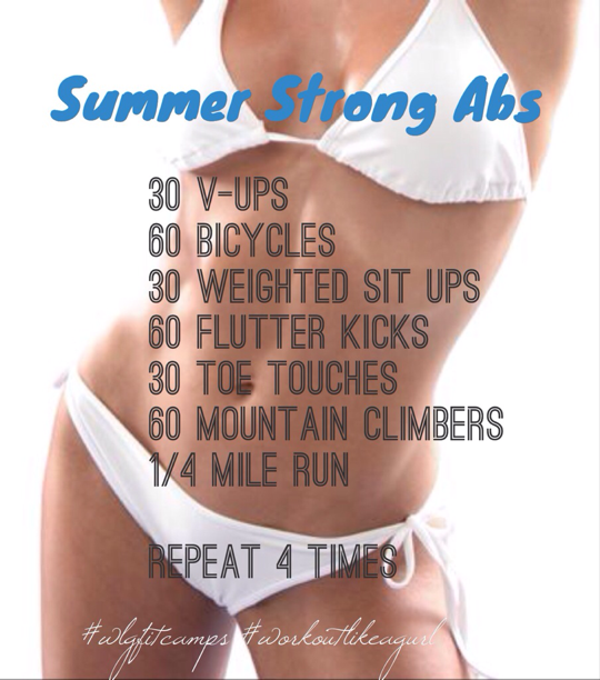 Workout Like A Girl Summer Strong Abs