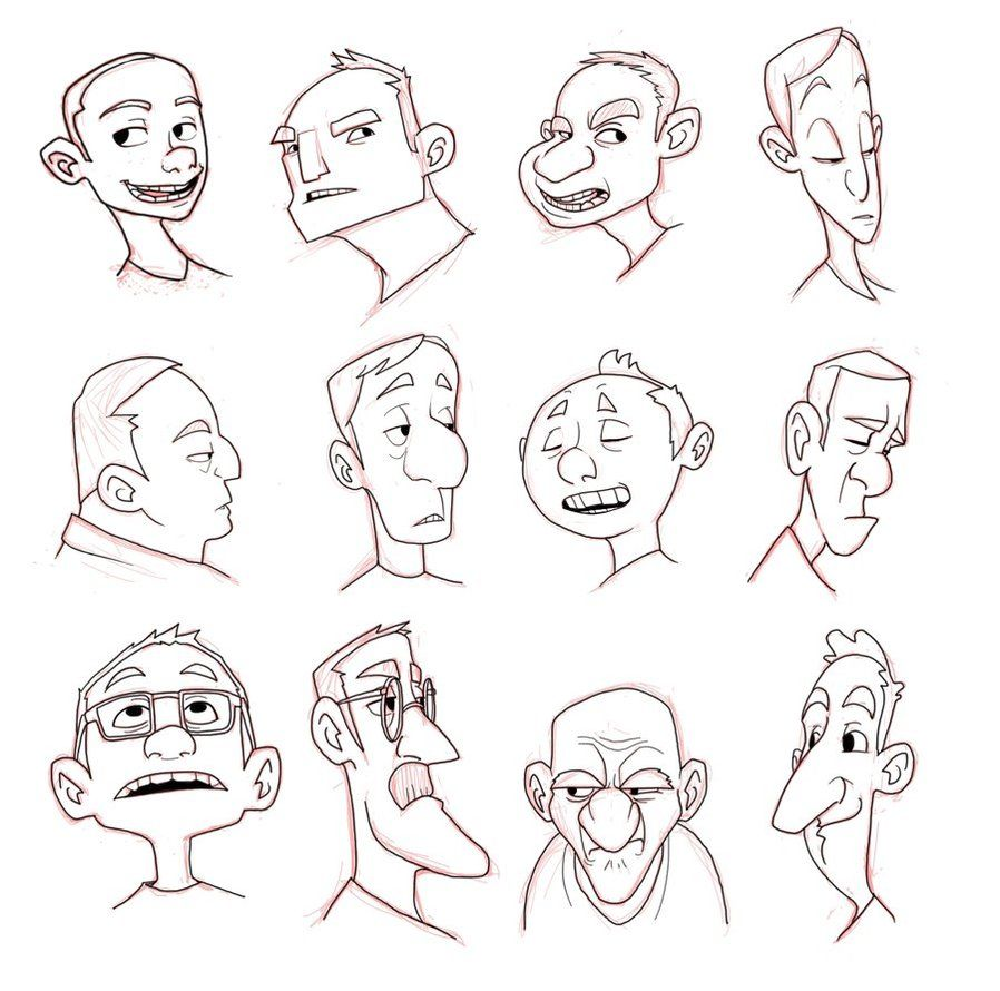 Character Design Anime Studio Story : Character design heads by luigil on deviantart