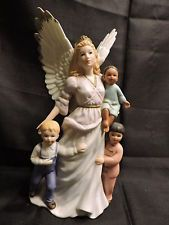 Homco Porcelain Figurine Angel And 3 Children Heavenly Love 87011