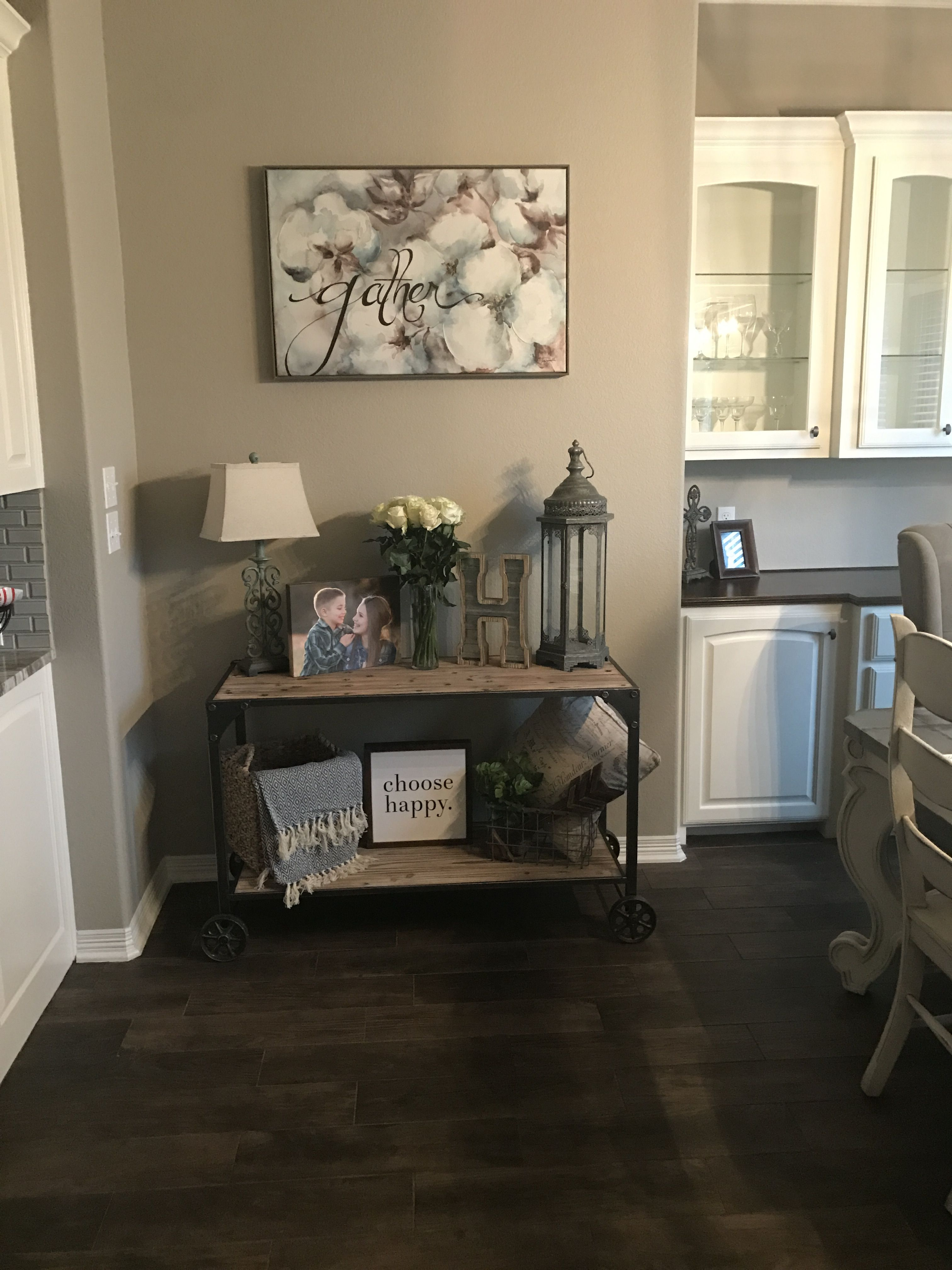 Love My New Piece From At Home Decor From Hobby Lobby And Kirklands Never Pay Full Price 50 Off Or 20 Or Clearance Even Buffet Table Decor Rustic Side Table
