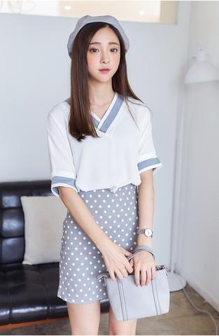 Korean fashion chiffon shirt - AddOneClothing - 1