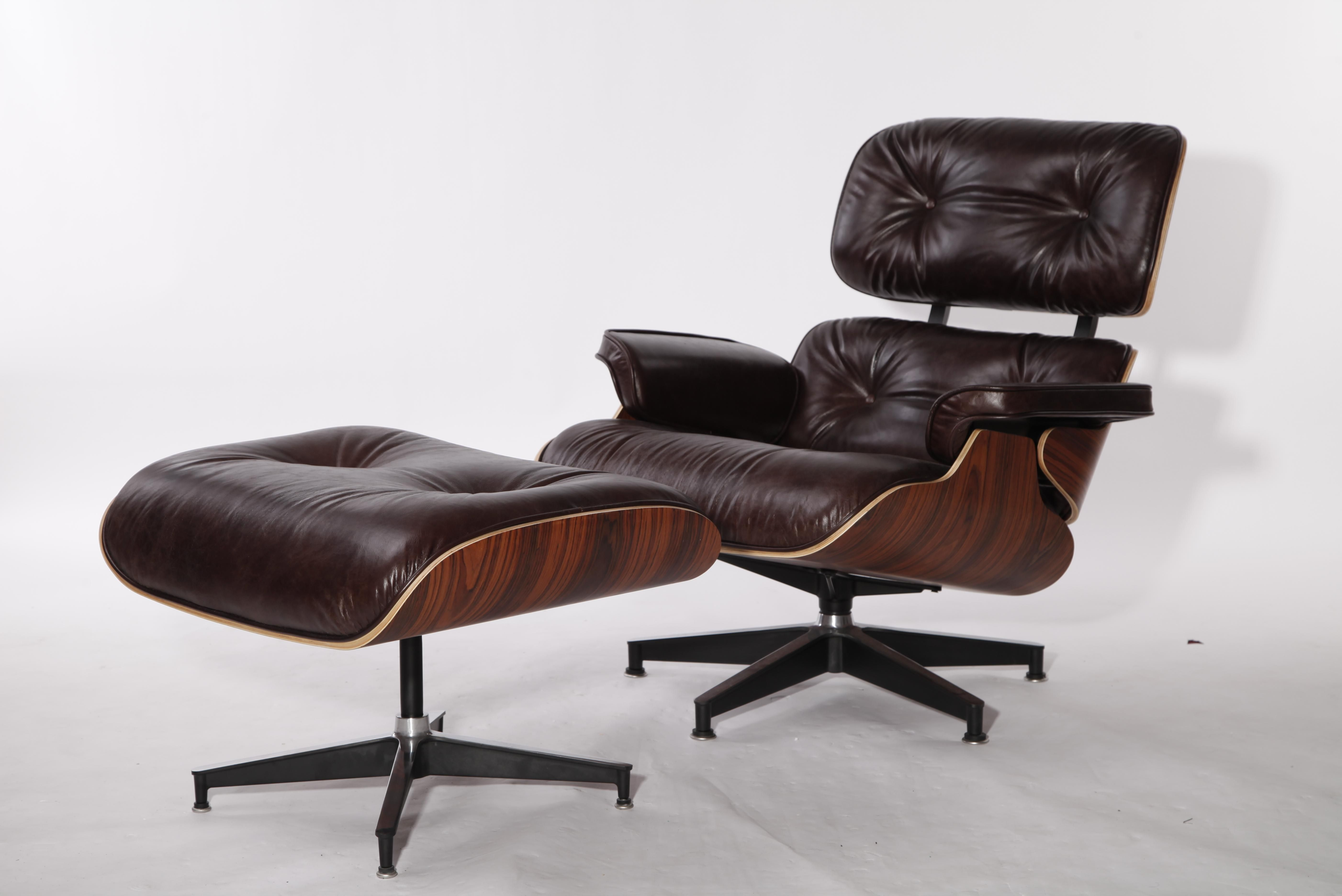 vintage leather eames lounge chair