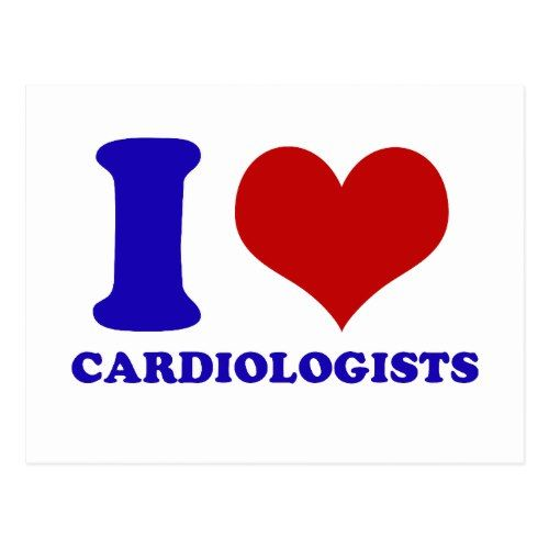 i love cardiologists design postcard with images