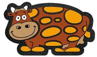 Tapete Eur Format Desenho Vaca   Decoração  Tapetes Exterior   Marmair