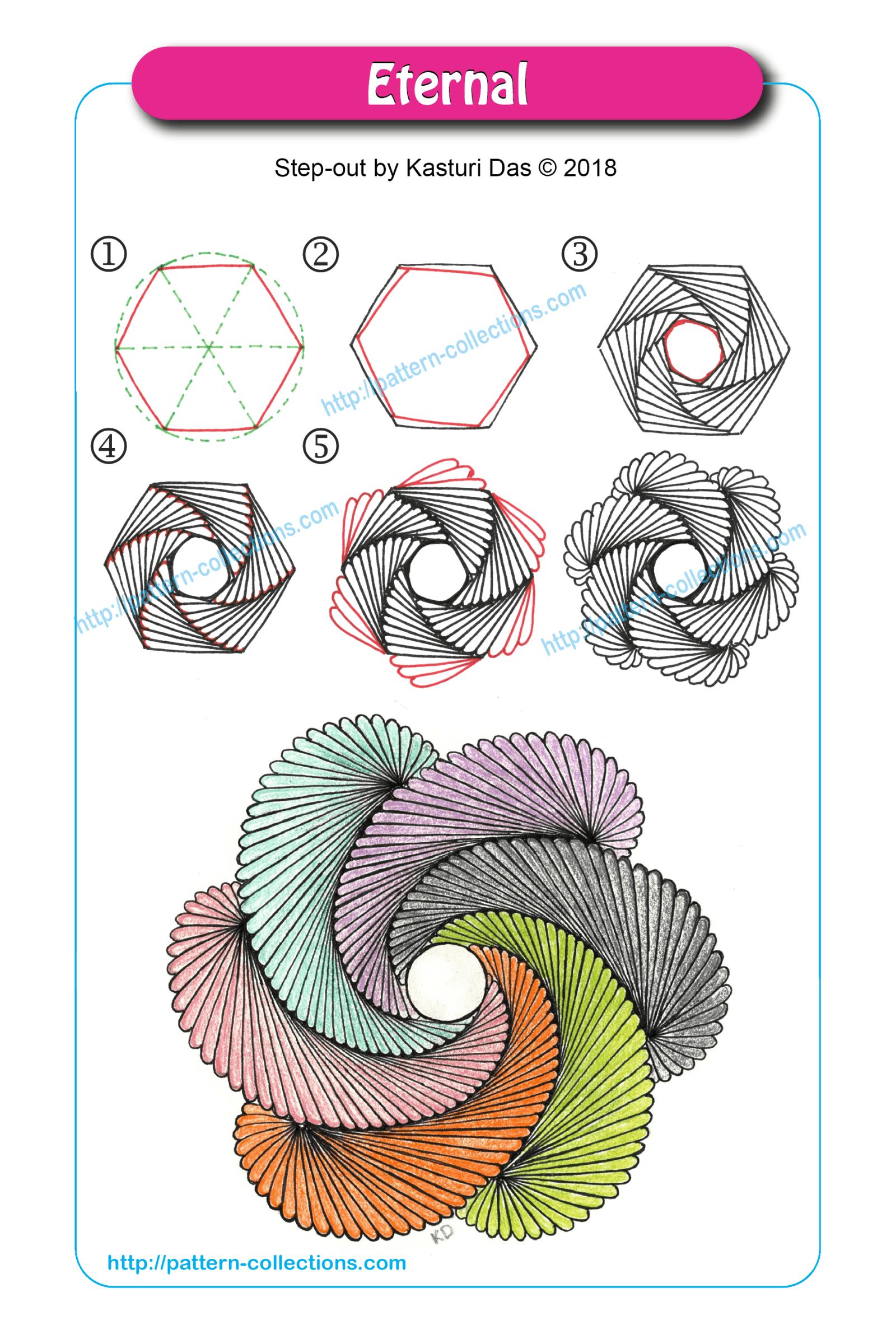 Eternal By Kasturi Das Zentangle Patterns Zentangle Drawings