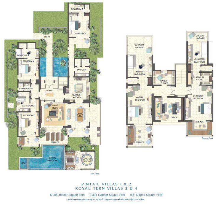Luxury Floor Plans Floor Plan Pintail Villas 1 2 Royal Tern Villas 3 4 Luxury Floor Plans Mansion Floor Plan Beach Floor Plans