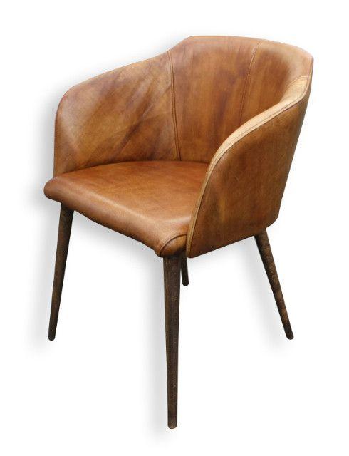 Lederstuhl mit Armlehne Stuhl Massivholz bei Möbelhaus