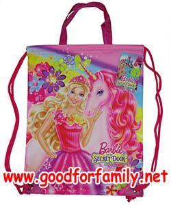 กระเป๋าเชือกรูด Barbie Secret Door สีชมพู บาร์บี้ กระเป๋า