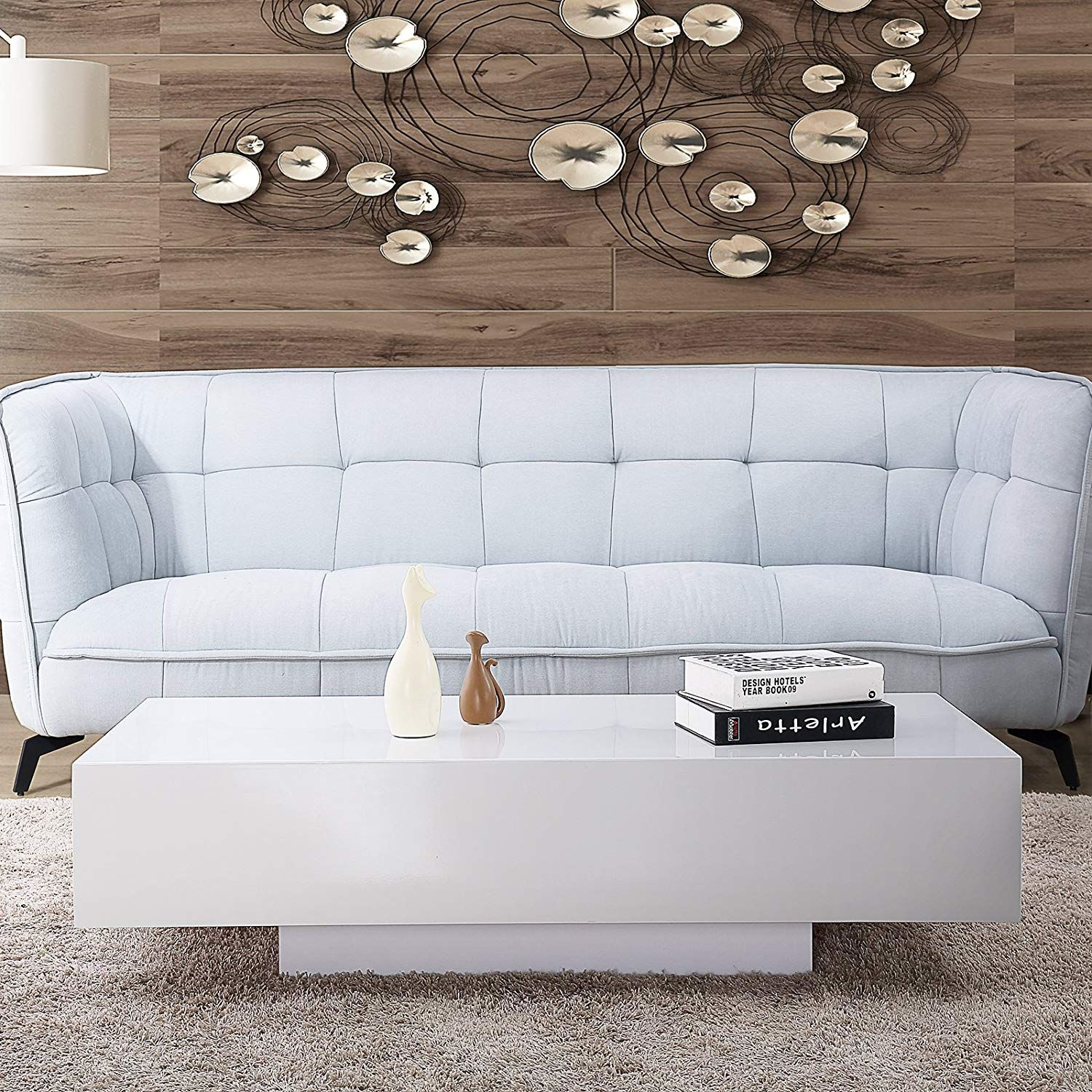 A Glossy White Modern Coffee Table For Your Mid Century Modern Living Room White Coffee Table Living Room White Coffee Table Modern Living Room Side Table [ 1500 x 1500 Pixel ]