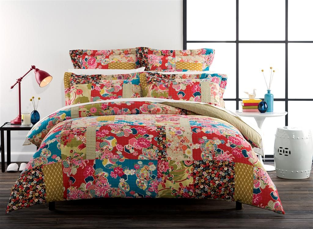 An Eclectic Mix Of Ornament And Colour This Modern Patchwork Design Will Add A Splash Of Colour To Your Bedroom B Quilt Cover Quilt Cover Sets Bedroom Images